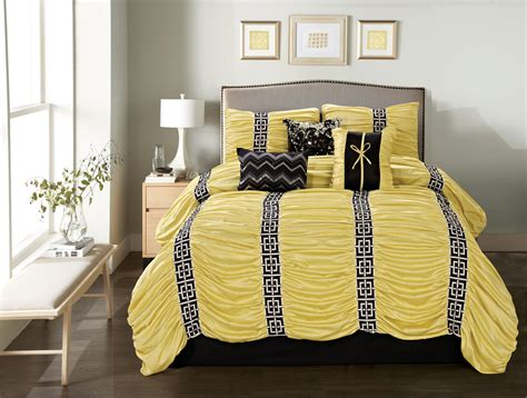 yellow and black comforter sets 7 harley yellow black comforter set