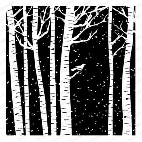 Impression Obsession Cling Mnt Rubber St Birch Trees 5