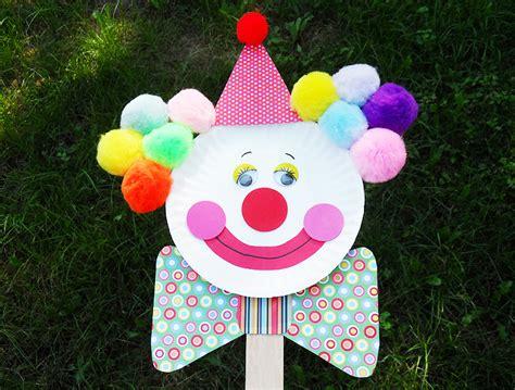 paper plate clown craft clown puppet on a stick paper plate clown ganz parent club