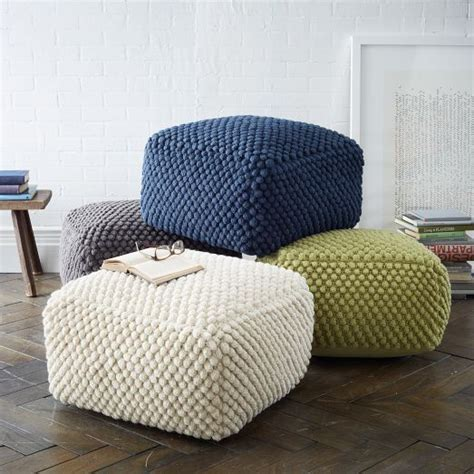 knitted poufs uk best 25 knitted pouf ideas on knitted pouffe