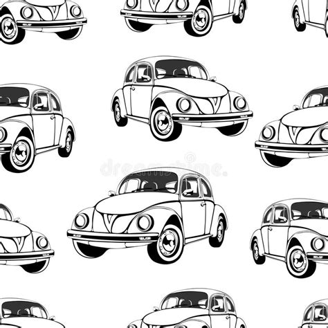 Car Wallpaper Black And White by Vintage Car Seamless Pattern Black And White Retro