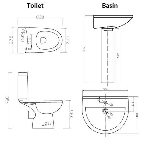 kitchen sink height toilet basin height