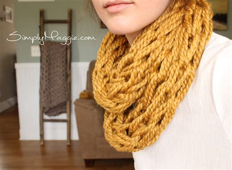 simply maggie arm knitting how to arm knit tutorial including