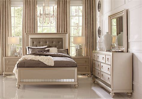 sofia vergara bedroom furniture sofia vergara chagne 5 pc bedroom bedroom