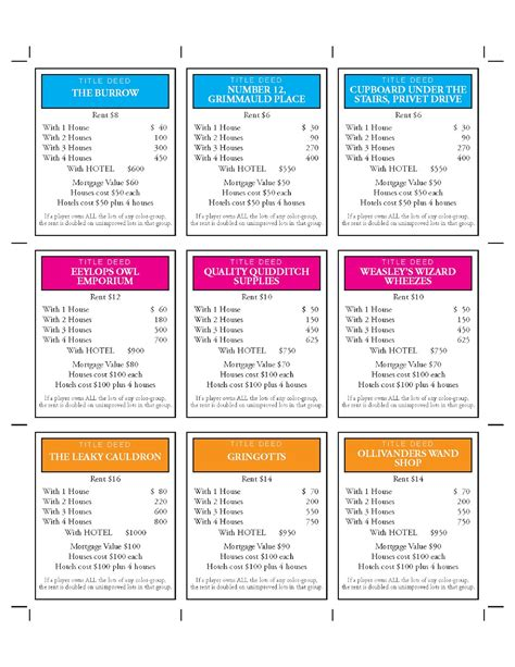 make your own monopoly chance cards design technology education how to make harry potter