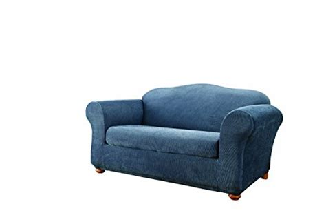 navy sofa slipcover sofa slipcovers sure fit stretch stripe 2 sofa
