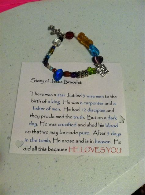 story of jesus bracelet what do the 17 best images about agape on ideas for gifts