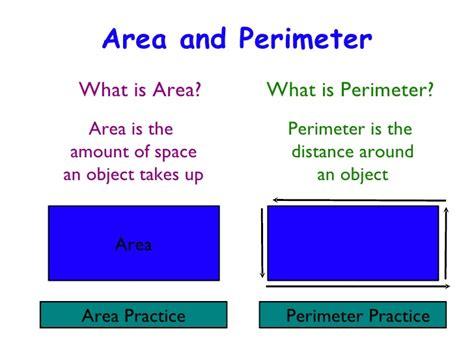 the area area perimeter