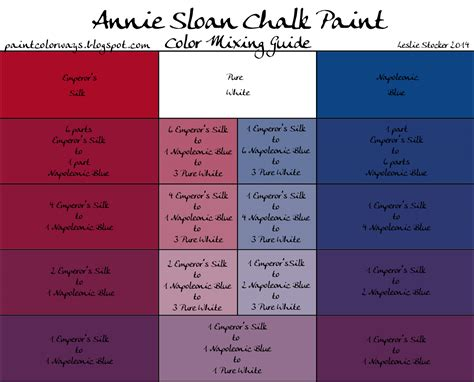 chalk paint mixed colors colorways sloan chalk paint mixing for purple with