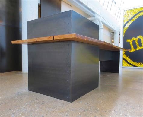 metal reception desk custom made metal modern industrial plate steel