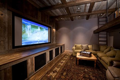 Home Wall Decor And Accents lake tahoe dream home rustic home theater