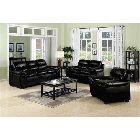 black living room chairs furniture design ideas electric black leather living room