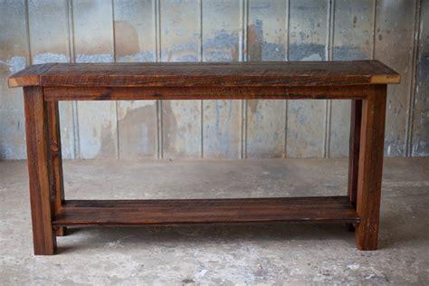 reclaimed wood sofa table wooden sofa table moti furniture reclaimed wood