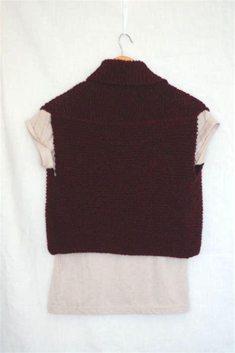 easy knit vest free patterns 1000 ideas about knit vest pattern on vest