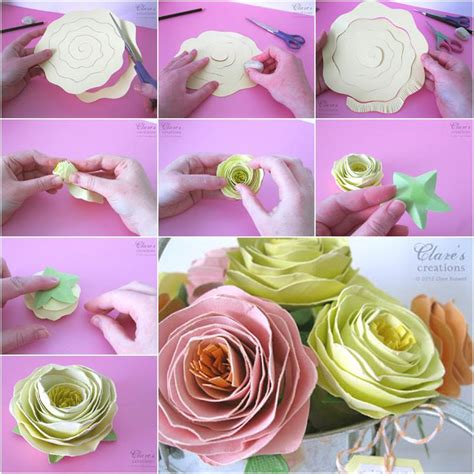 beautiful paper crafts wonderful diy easy rolled spiral paper flower