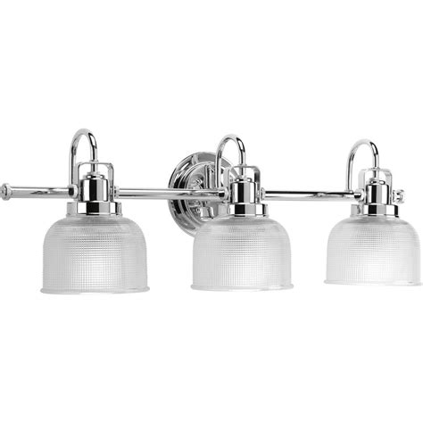 chrome bathroom vanity lights shop progress lighting 3 light archie chrome bathroom