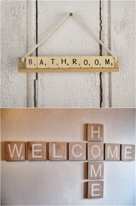 scrabble sign 20 and exciting ways to repurpose board