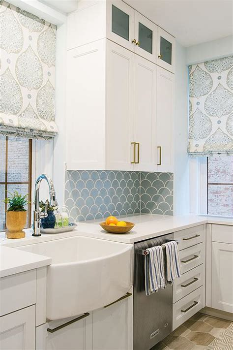 blue kitchen tile backsplash blue kitchen backsplash tiles with white cabinets