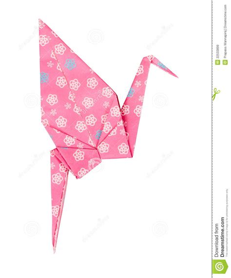 japanese paper crafts free pink japanese paper craft origami bird royalty free stock
