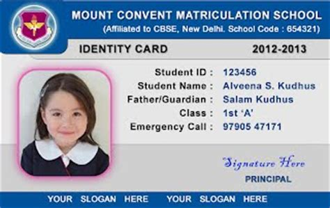 how to make a student id card webbience school id card templates 030521a