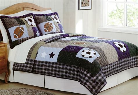 sports bedding set sports bedding collage quilt set with shams