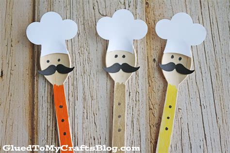 wooden spoon crafts for wooden spoon chef kid craft glued to my crafts
