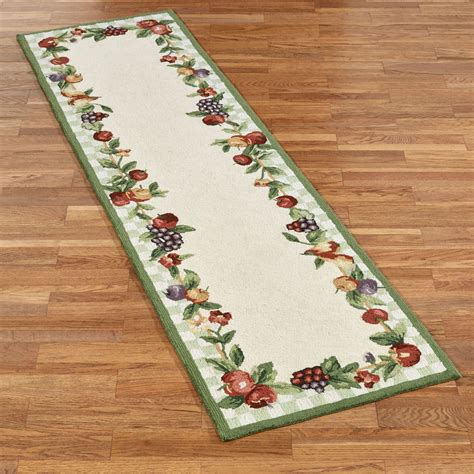 kitchen area rugs and runners sonoma hooked fruit rug runners