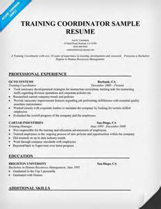 training coordinator sample resume jobs interviews