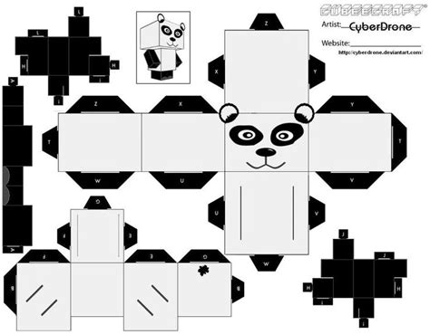 paper craft panda cubee panda by cyberdrone on deviantart wedding