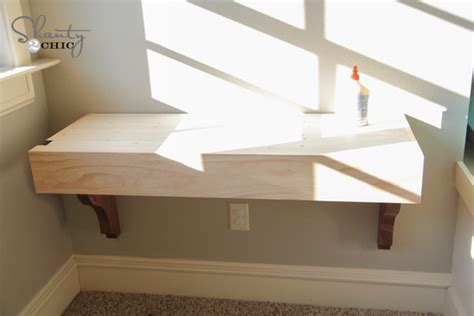 how to build a desk diy corbel desk for 85 shanty 2 chic