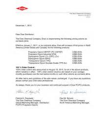 professional price increase letter cover letter sample 2017