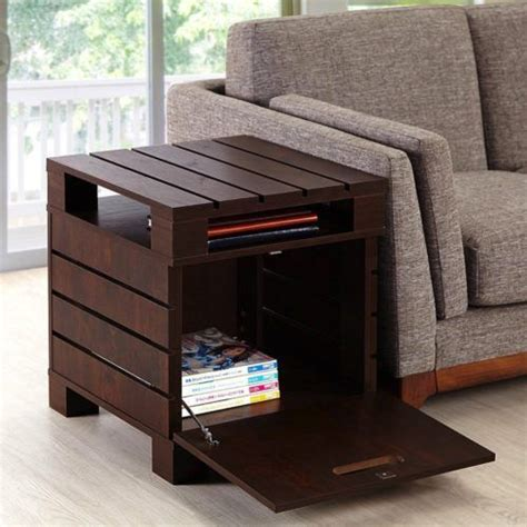 living room end tables with storage best 25 pallet end tables ideas on