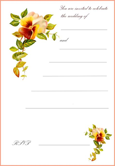 free card free printable wedding invitations free printable