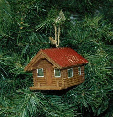 cabin ornaments log cabin ornament ebay 1 ℭhristmas