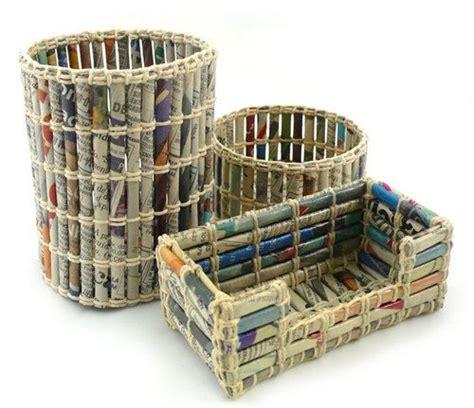 paper crafts recycled newspaper 99 ide kerajinan tangan dari barang bekas unik dan bisa