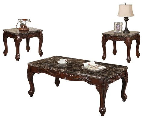 traditional coffee table sets traditional coffee table with 2 end tables 3 set