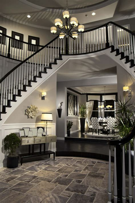 Center Hall Colonial Open Floor Plan 45 custom luxury foyer interior designs