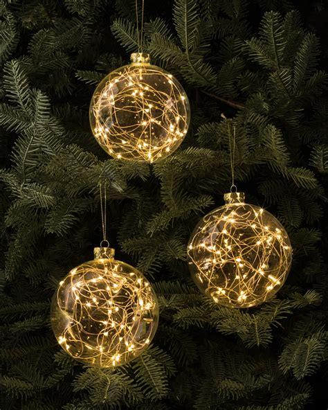 light baubles led light ornaments set of 3 balsam hill australia