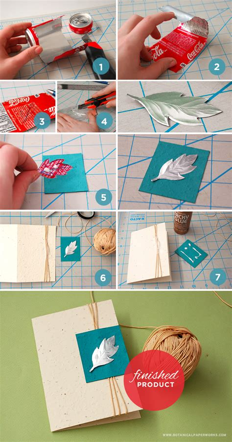 how to make birthday card for up cycle craft pop can card botanical paperworks