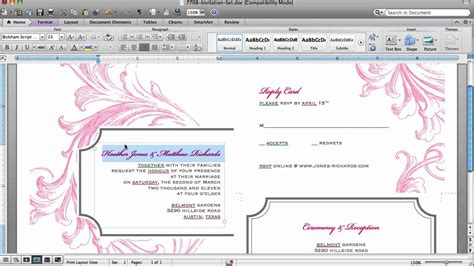 how to make a invitation card on microsoft word how to customize an invitation template in microsoft word