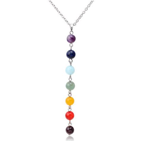charms and pendants for jewelry 7 chakra gem pendant necklace reiki