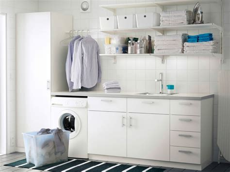 laundry room wall storage wall shelves and cabinet with door from ikea as laundry
