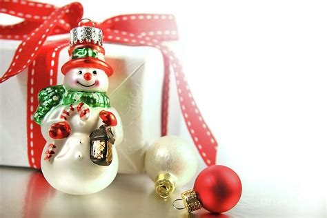 small ornaments small ornament with gift photograph by