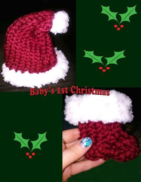 boye knitting loom newborn santa hat booties made on boye flower loom