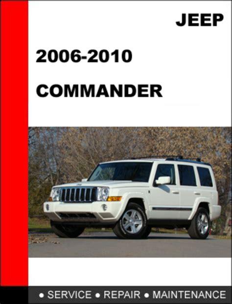 jeep commander 2006 2010 factory service repair manual download m