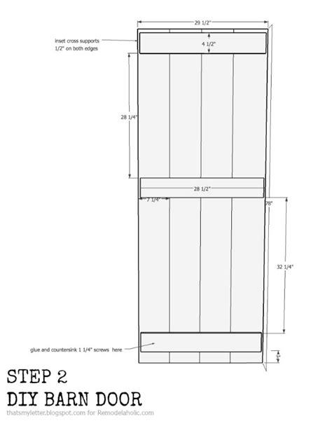 barn door dimensions 1528