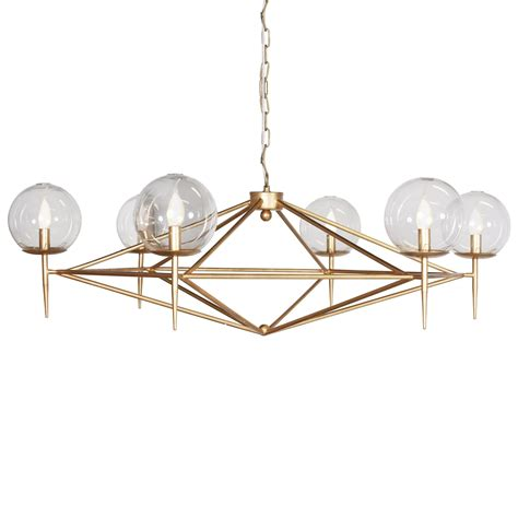 and gold chandelier geometric gold leaf chandelier kudzu and company