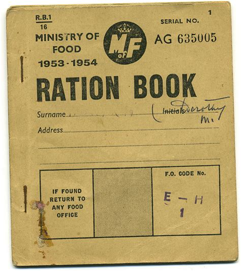 pictures of ration books food rationing children s history encyclopedia