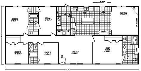 5 bedroom mobile homes floor plans 5 bedroom mobile home images tours manufactured home and