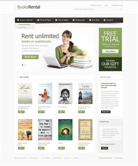 picture book websites 12 best book html website templates web resources free